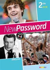 New password english ; 2nde ; livre (édition 2015) - Couverture - Format classique