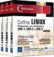 Linux ; coffret de 3 livres : préparation aux certifications LPIC-1, - LPIC-2, - LPIC-3 (2e édition) - Couverture - Format classique