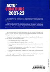 Actu'concours ; thèmes essentiels d'actualité 2021-2022 (édition 2021/2022) - 4ème de couverture - Format classique