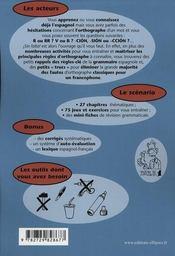 Sin falta ! l'espagnol sans faute ; jeux d'orthographe - 4ème de couverture - Format classique