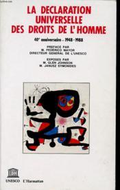 Declaration Des Droits L'Homme - Couverture - Format classique