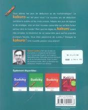 Kakuro T.2 - 4ème de couverture - Format classique