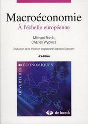 Macroéconomie, à l'échelle européenne - Intérieur - Format classique