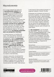 Macroéconomie, à l'échelle européenne - 4ème de couverture - Format classique