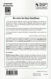 Re-créer les liens familiaux (2e édition) - 4ème de couverture - Format classique