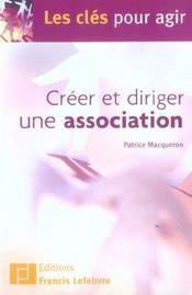 Creer et diriger une association - Intérieur - Format classique