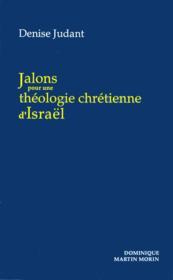 Jalons theologie chretienne d israel - Couverture - Format classique
