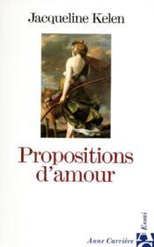 Propositions d amour - Couverture - Format classique