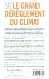 Le grand dérèglement du climat ou l'arrivée de la super-tempête - 4ème de couverture - Format classique