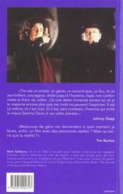 Tim Burton Par Tim Burton - 4ème de couverture - Format classique