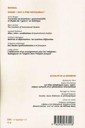 Labyrinthe - Atelier Interdisciplinaire N.24 ; Faut-Il Etre Postcolonial? - 4ème de couverture - Format classique