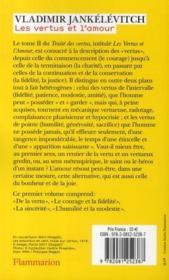 Traité des vertus t.2 ; les vertus et l'amour t.1 - 4ème de couverture - Format classique