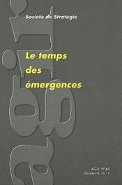 Le temps des emergences - Couverture - Format classique