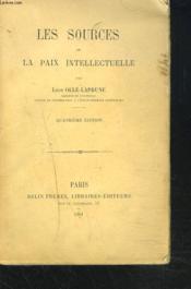 Les Sources De La Paix Intellectuelle - Couverture - Format classique