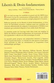Libertés Et Droits Fondamentaux - 4ème de couverture - Format classique