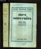Mes Souvenirs Trente Annees De Vie Politique En Europe - Deux Tomes - Tome 1 + 2 - Tome 1 : 1892-1914 - Tome 2 : 1914-1922. - Couverture - Format classique