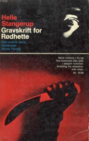 Gravskrift For Rødhette - Couverture - Format classique