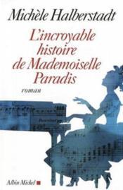 L'incroyable histoire de mademoiselle Von Paradis - Couverture - Format classique