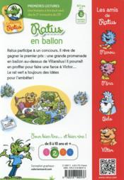 Ratus en ballon - 4ème de couverture - Format classique
