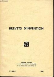 Brevets D'Invention N°1358-1 - Couverture - Format classique