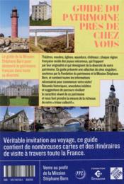 Guide du patrimoine près de chez vous - 4ème de couverture - Format classique