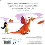 Mon dragon apprend à dire s'il te plaît - 4ème de couverture - Format classique