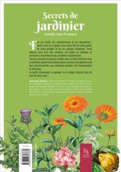 Secrets de jardinier ; conseils, trucs & astuces - 4ème de couverture - Format classique