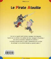 Le pirate Atouille - 4ème de couverture - Format classique