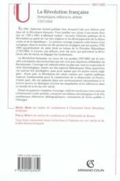 La Revolution Francaise ; Dynamiques, Influences, Debats, 1787-1804 - Couverture - Format classique