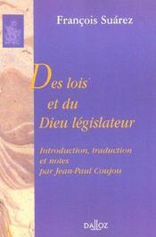 Des lois et du dieu legislateur - Intérieur - Format classique