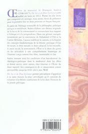 Des lois et du dieu legislateur - 4ème de couverture - Format classique