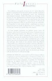 Mussolini - 4ème de couverture - Format classique