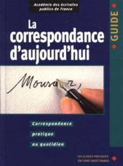 Correspondance d'aujourd'hui - Couverture - Format classique