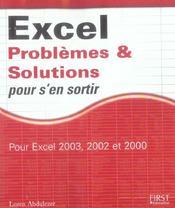 Excel : Problemes Et Solutions Pour S'En Sortir - Intérieur - Format classique