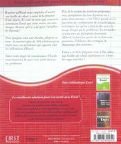 Excel : Problemes Et Solutions Pour S'En Sortir - 4ème de couverture - Format classique