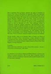 Fluxus dixit ; une anthologie t.1 - 4ème de couverture - Format classique