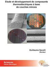 Étude et développement de composants thermoélectriques à base de couches minces - Couverture - Format classique