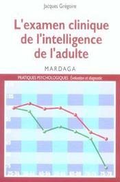 Examen Clinique De L'Intelligence De L'Adulte - Intérieur - Format classique