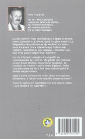 MARY LESTER T.1 ; les bruines de Lanester - 4ème de couverture - Format classique