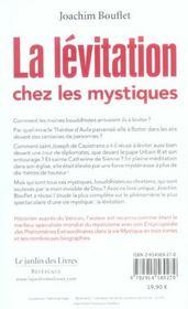 La lévitation chez les mystiques - 4ème de couverture - Format classique