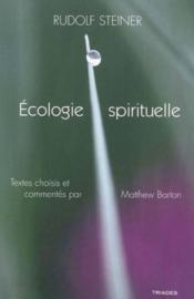 Ecologie spirituelle - Couverture - Format classique