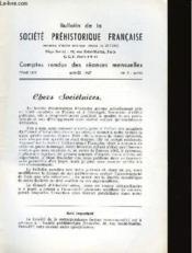 Bulletin De La Societe Prehistorique Francaise - Comptes Rendus Des Seances Mensuelles - Tome 64 - Annee 1967 - N°3 Mars - Couverture - Format classique