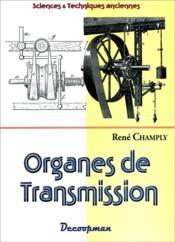 Organes de transmission - Couverture - Format classique