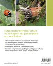 Les auxiliaires au jardin ; une solution alternative aux pesticides - 4ème de couverture - Format classique