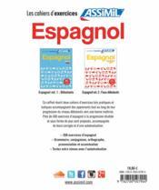 GUIDES DE CONVERSATION ; espagnol ; cahiers d'exercices ; coffret - 4ème de couverture - Format classique