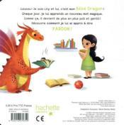 Mon dragon apprend à dire pardon - 4ème de couverture - Format classique