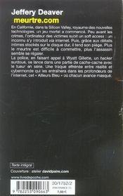 Meurtre.com - 4ème de couverture - Format classique
