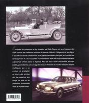 Rolls-Royce ; De 1904 A Nos Jours - 4ème de couverture - Format classique