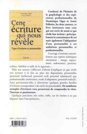 Cette Ecriture Qui Nous Revele - 4ème de couverture - Format classique