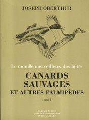 Canards sauvages et autres palmipèdes t.1 - Intérieur - Format classique